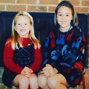 Erica and Rachel as children